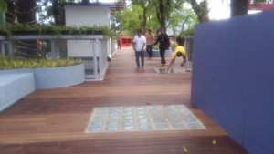 decking kayu skywalk